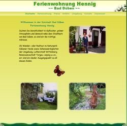 Willkommen in unserer *** Ferienwohnung im Herzen von Bad Düben.